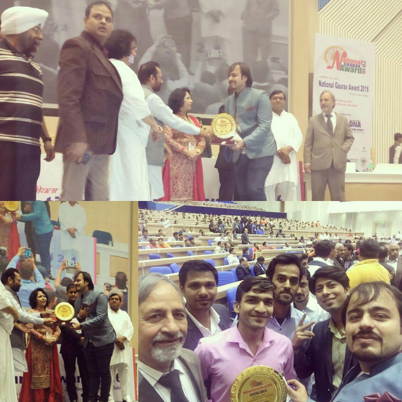 Receiving the National Gaurav Award at Vigyan Bhawan 25 Feb 2017